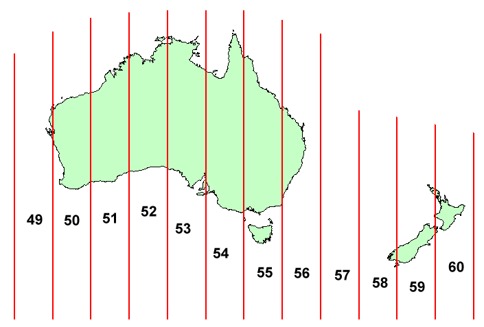Map Grid Of Australia Zone 50.Utm Coordinate System Xms Wiki