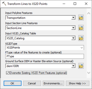 AHGW:Transform Lines to XS2D Points - XMS Wiki
